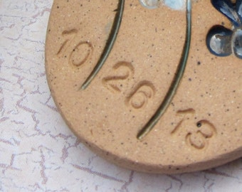 Lettering to be added to your Custom Memorial Item - Purchase if you would like me to add stamped lettering to your item