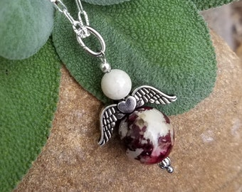 PENDANT Necklace Charm made from your preserved Wedding or Memorial Flowers or Pet Cremains or Fur  Custom Bridal or Funeral Keepsake  ANGEL