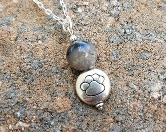 PENDANT or Necklace made from your Pet Cremains or Fur Custom Keepsake THOUGHTFUL PAWS