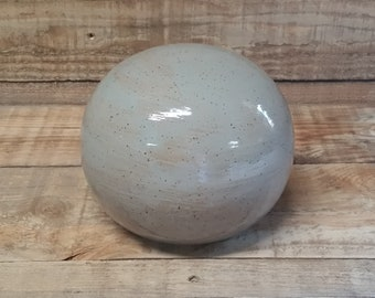Cremation Urn - Stoneware Cremains Jar - READY to SHIP - GLOBE -Up to 94 lbs