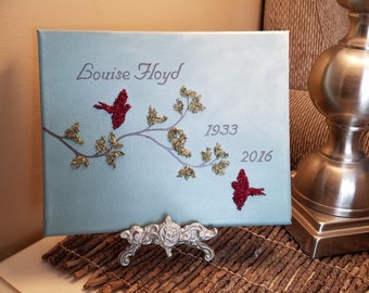 3D Canvas Flower Keepsake - made from your preserved Wedding or Memorial Petals  Custom Bridal or Funeral Wall Art -  LOFTY PAIR
