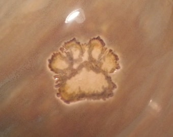 Stamped Paw Print to be added to your Custom Memorial Urn - Purchase if you would like me stamp a paw print into your urn.