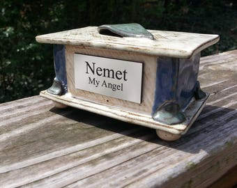 Custom Cremation Urn - Hand-built Stoneware Cremains Box - CHEST