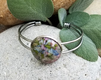 BRACELET made from your preserved Wedding or Memorial Flowers Pet Cremains or Fur Custom Bridal or Funeral Keepsake  FAUNA