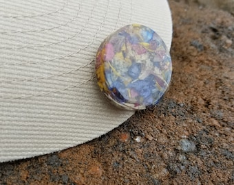 Wedding Memento or Memorial Keepsake made from your Dried Flower Petals or Pet fur - Magnetic GOLF BALL MARKER - Round