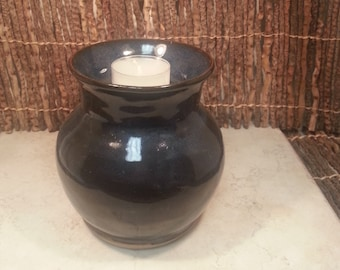 Cremation Urn - Stoneware Cremains Jar - READY to SHIP - IGNEOUS Flared - Up to 36 lb