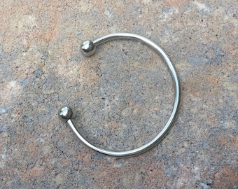 Add a Bead Bangle Bracelet for Nature's Adornments European Style Beads - Silver Toned