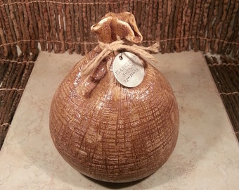 Cremation Urn - Stoneware Cremains Jar - READY to SHIP - SACK - Up to 52 lb