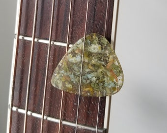 Functional GUITAR PICK made from your preserved Wedding or Memorial Flowers Pet Cremains or Fur Custom Bridal or Funeral Keepsake