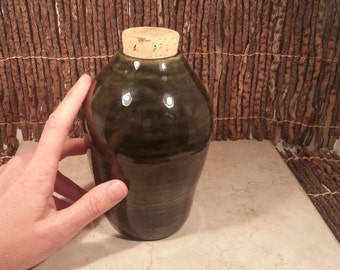Cremation Urn - Stoneware Cremains Jar - READY to SHIP - MONOLITH - Up to 37 lb