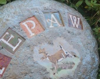 Custom - Pottery Garden Stone or Burial Grave Marker - Stoneware Clay - Pet Memorial