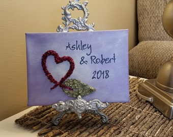 3D Canvas Flower Keepsake - made from your preserved Wedding or Memorial Petals  Custom Bridal or Funeral Wall Art -  iLOVE BRANCH