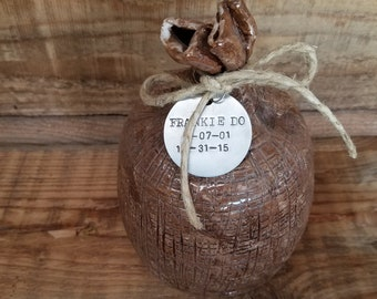 Custom Cremation Urn - Stoneware Cremains Jar - SACK