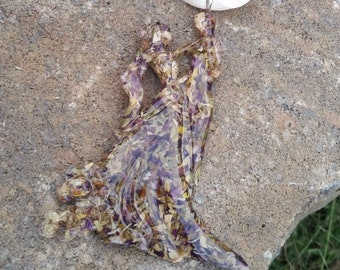 Wedding Memento Keepsake Ornament made from your Dried Flower Petals - BRIDE AND GROOM