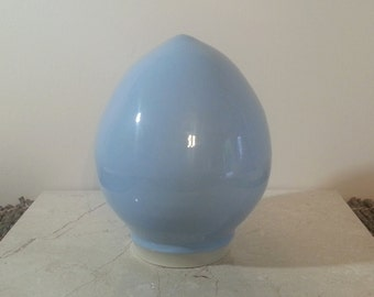 Special Price 70% Off - Cremation Urn - Stoneware Cremains Jar - READY to SHIP - EGG - Up to 58lb