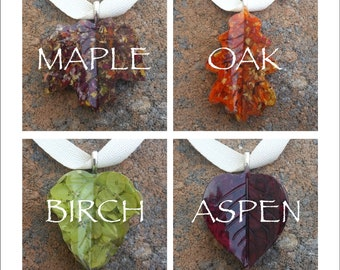 Custom Keepsake / Memorial Ornament Pendant made from your Flower Petals or Pet fur or Cremains - BUXOM LEAVES