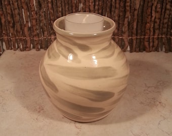 Cremation Urn - Stoneware Cremains Jar - READY to SHIP - IGNEOUS - Up to 15lb