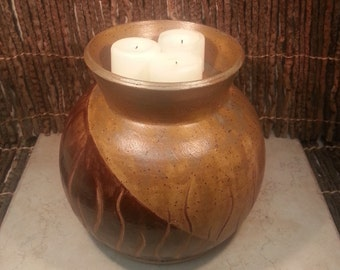 Cremation Urn - Stoneware Cremains Jar - READY to SHIP - IGNEOUS Grama - Up to 92 lb
