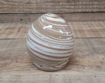 Cremation Urn - Stoneware Cremains Jar - READY to SHIP - EGG - Up to 17lbs
