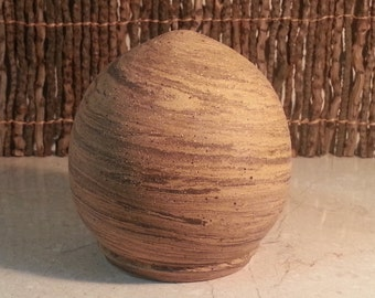 Cremation Urn - Stoneware Cremains Jar - READY to SHIP - EGG - Up to 24lbs
