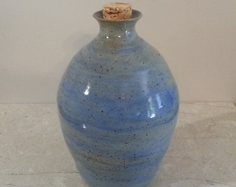 Cremation Urn - Stoneware Cremains Jar - READY to SHIP - HEARTH - Up to 38lb
