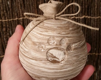 Cremation Urn - Stoneware Cremains Jar - READY to SHIP - SACK - Up to 7 lb