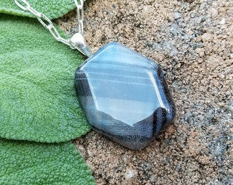 PENDANT Necklace made from your preserved Wedding or Memorial Flowers Pet Cremains or Fur Custom Bridal or Funeral Keepsake HEXAGON
