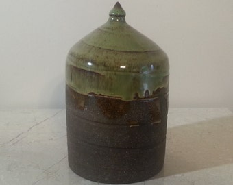 Cremation Urn - Stoneware Cremains Jar - READY to SHIP - FALLOW - Up to 20lbs