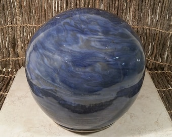 Special Price 70% Off - Cremation Urn - Stoneware Cremains Jar - READY to SHIP - GLOBE - Up to 164 lb