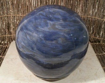 Custom Cremation Urn - Stoneware Cremains Jar - GLOBE
