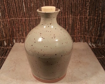 Cremation Urn - Stoneware Cremains Jar - READY to SHIP - HEARTH - Up to 47 lb