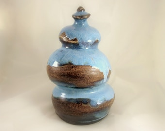 Cremation Urn - Stoneware Cremains Jar - READY to SHIP - One of a Kind - Up to 54lb
