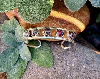 Sterling Silver BRACELET made from your preserved Wedding Memorial Flowers Pet Cremains Fur Custom Bridal or Funeral Keepsake - JUNIPER