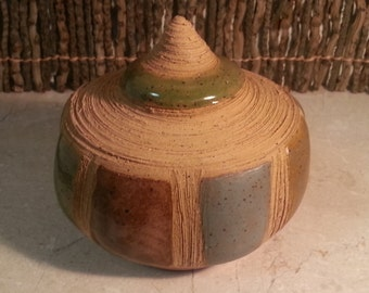 Cremation Urn - Stoneware Cremains Jar - READY to SHIP - REEF - Up to 25lb