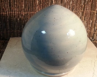 Cremation Urn - Stoneware Cremains Jar - READY to SHIP - EGG - Up to 96lb