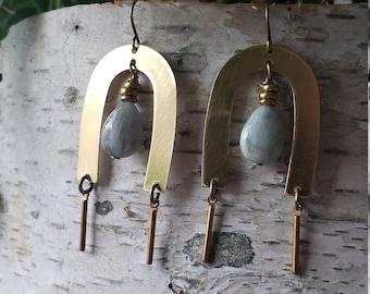 lore // natural aquamarine earrings