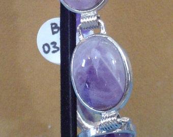 "Awesome 7"" Amethyst stretch Bracelet - B038"