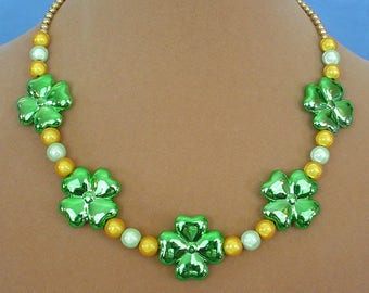 """18"""" Lucky Charm Shamrock Necklace - N574"""