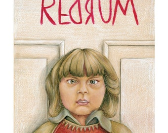 The Shining Drawing, Movie Art, Poster