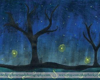 Twilight, Night Time,  Original Painting