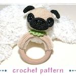Pug Rattle Ring - Crochet Pattern