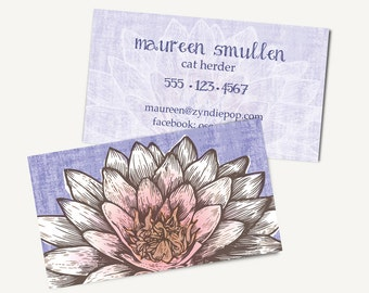Yoga Business Card Etsy