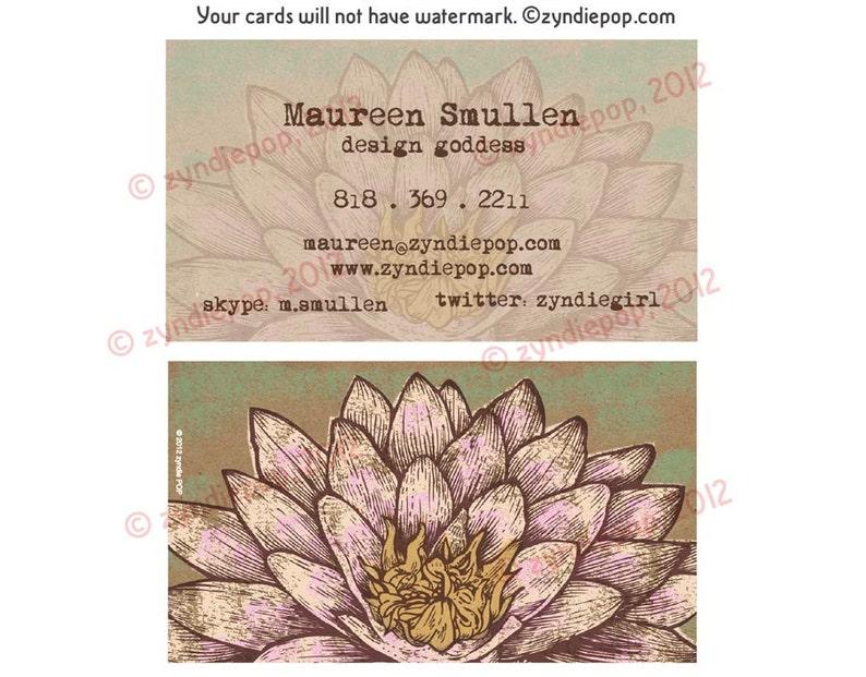 BEST SELLER Imprimes Cartes De Visite Yoga Fleur Lotus