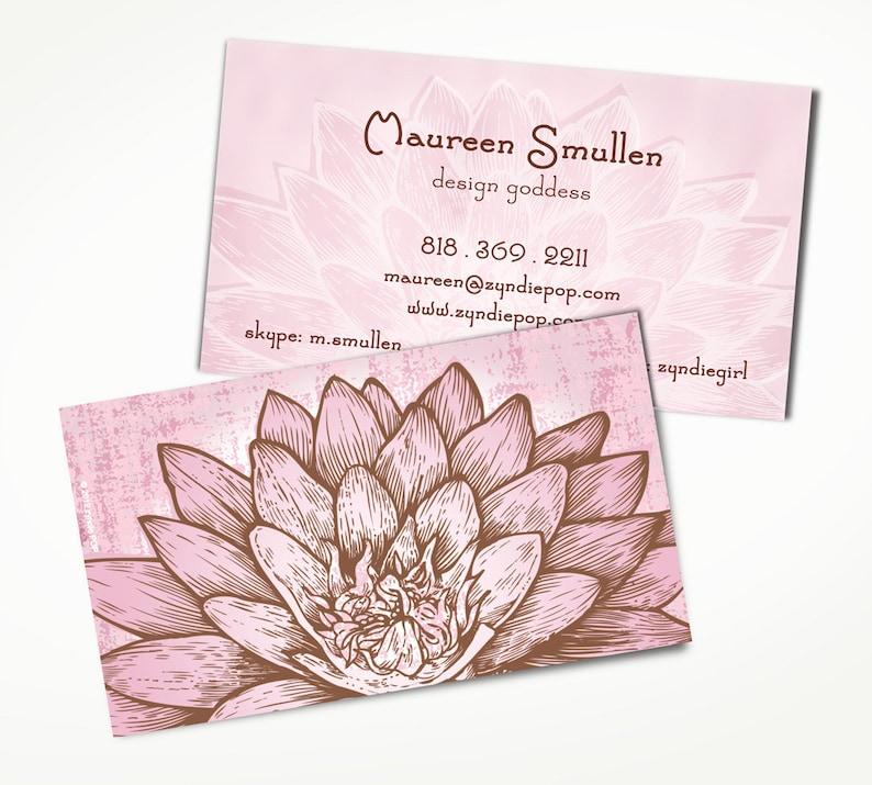 250 Lotus Yoga Zen Creative Cartes De Visite Carte
