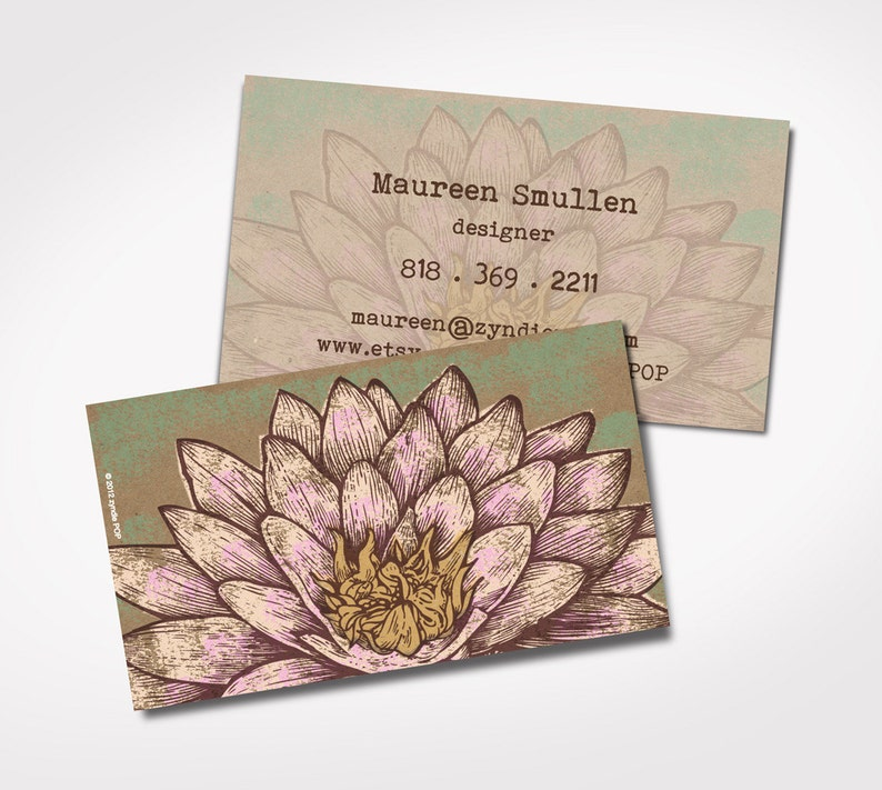 BEST SELLER Imprimes Cartes De Visite Yoga Fleur Lotus