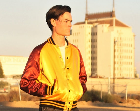 1950s two toned satin racing crew pit jacket, Zecol,  Lubaid, W.A. Goodman & Sons brand Size Med