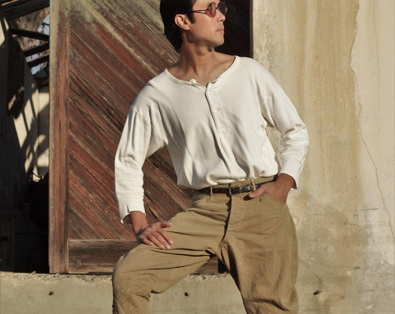 LAYAWAY WWI Era Canvas duck cloth  workwear breeches or riding pants, jodhpurs,  button fly, W 30""