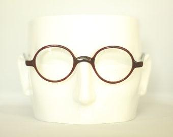 c37b98eddc87 1930s dark faux tortoiseshell cross between Windsor   Panto style eyeglasses