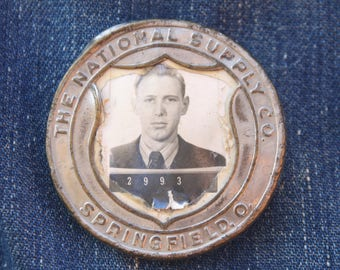1940s wokers badge, The National Supply Co. Springfield, Ohio, Engine Makers