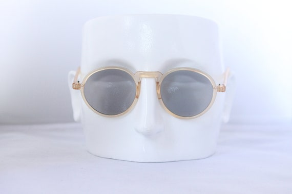 1930s  panto sunglasses in pale peach with glass l